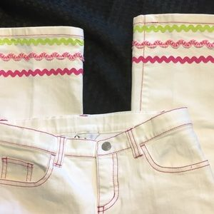 Lilly Pulitzer Bottoms - Lily Pulitzer White Girls Jeans Like New Size 12